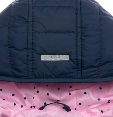Endo - Przejściowa kurtka z kapturem dla dziewczynki, z falbanką, granatowa z elementami odblaskowymi, 2-8 lat D05A013_1,5