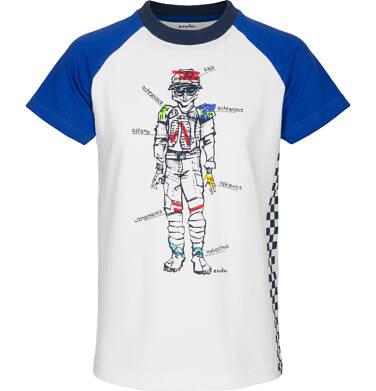 T-shirt z krótkim rękawem dla chłopca 9-13 lat C91G524_1