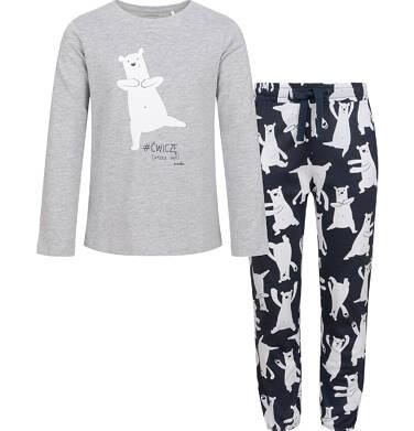 Endo - Piżama dla dziewczynki, w misie, szara, 2-8 lat D04V011_1,1