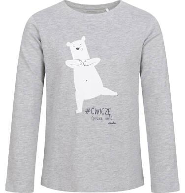 Endo - Piżama dla dziewczynki, w misie, szara, 2-8 lat D04V011_1,3