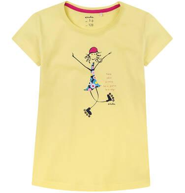 Endo - Bluzka z krótkim rękawem dla dziewczynki 4-8 lat D71G121_1