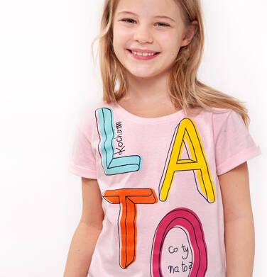 T-shirt z krótkim rękawem dla dziewczynki 3-8 lat D91G002_1