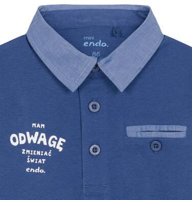 Endo - Koszulka polo z długim rękawem dla dziecka 0-3 lata N92G035_2