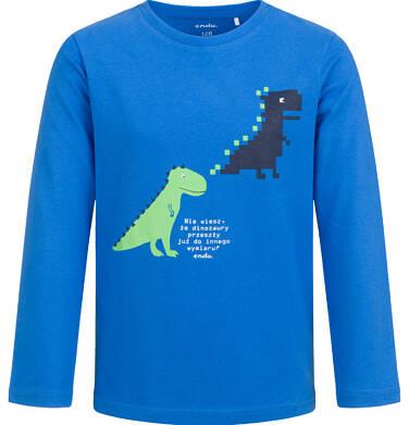 Endo - T-shirt z długim rękawem dla chłopca, z dinozaurami, niebieski, 2-8 lat C04G049_1 50