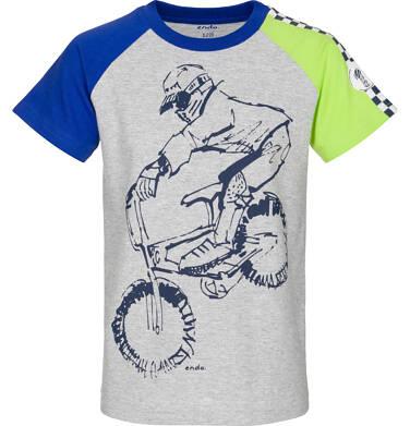 T-shirt z krótkim rękawem dla chłopca 9-13 lat C91G525_1