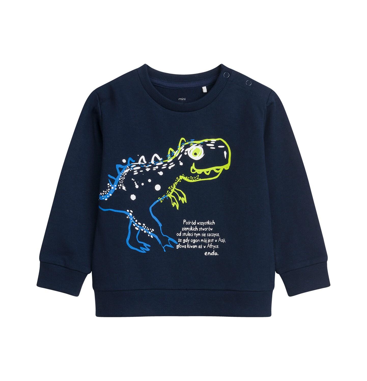 Endo - Bluza dla dziecka do 2 lat, z dinozaurem, granatowa N04C005_1