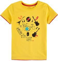 T-shirt z kontrastowym wykończeniem dla chłopca 9-13 lat C71G598_1