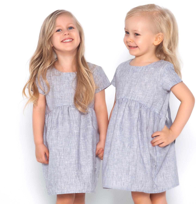 Endo - Sukienka z krótkim rękawem dla dziewczynki 3-8 lat D81H019_1