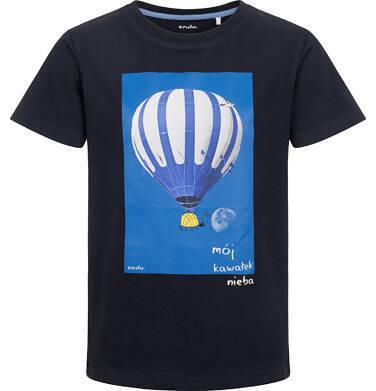 Endo - T-shirt z krótkim rękawem dla chłopca, z balonem, granatowy, 9-13 lat C05G130_1 21