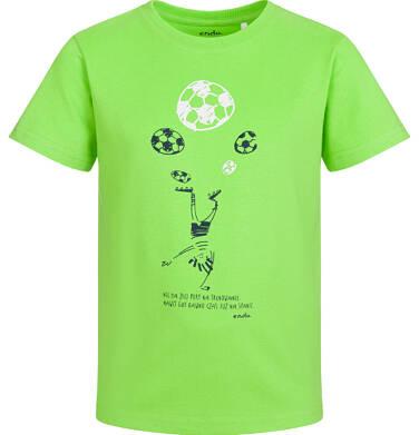 Endo - Piżama z krótkim rękawem dla chłopca, ze sportowym motywem, 2-8 lat C03V004_1 80