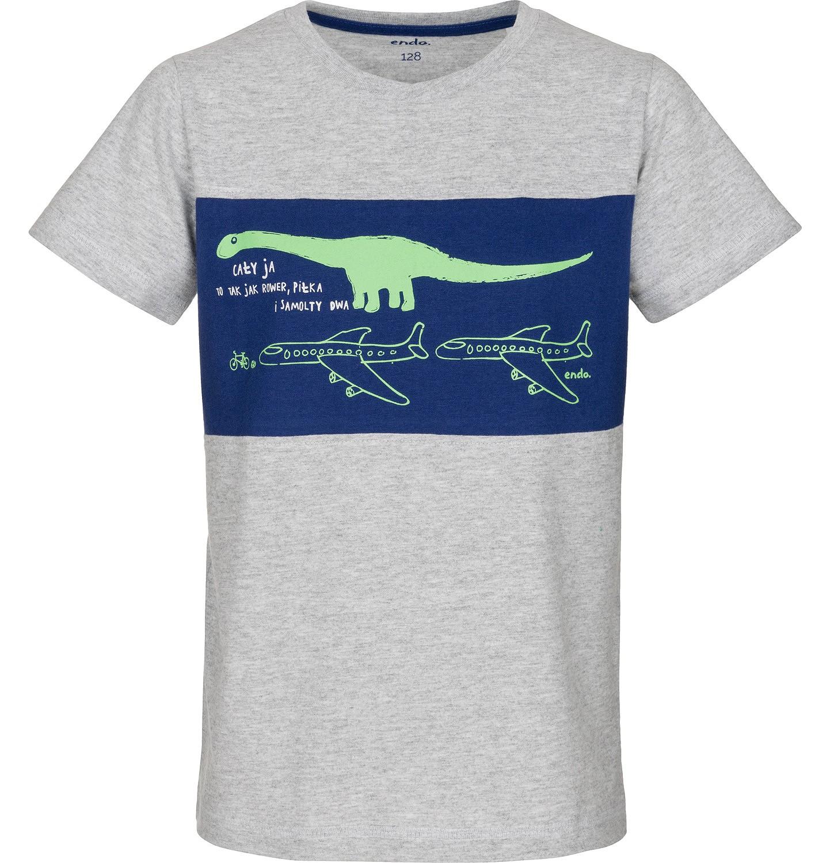 Endo - T-shirt z krótkim rękawem dla chłopca 9-13 lat C91G531_1
