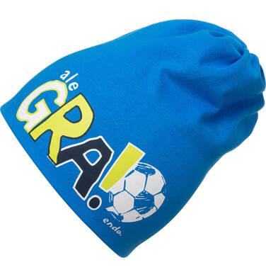 Endo - Czapka wiosenna dla dziecka, z motywem piłkarskim, niebieska C05R012_1 35
