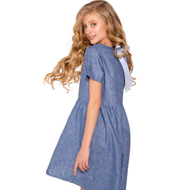 Sukienka z krótkim rękawem dla dziewczynki 9-13 lat D81H518_1