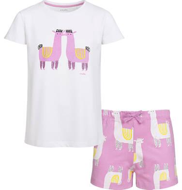 Endo - Piżama z krótkim rękawem dla dziewczynki, deseń w lamy, 2-8 lat D03V005_1 11