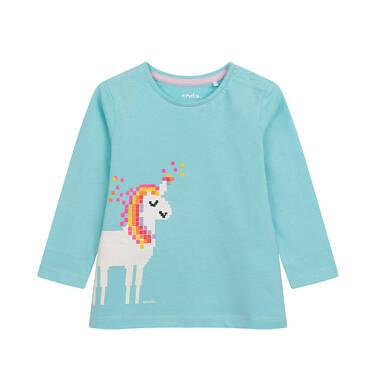 Endo - Bluzka z długim rękawem dla dziecka do 2 lat, z jednorożcem, niebieska N04G039_1 30