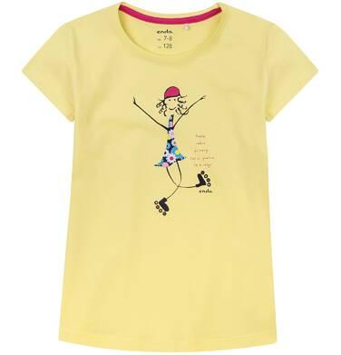 Endo - Bluzka z krótkim rękawem dla dziewczynki 9-13 lat D71G621_1