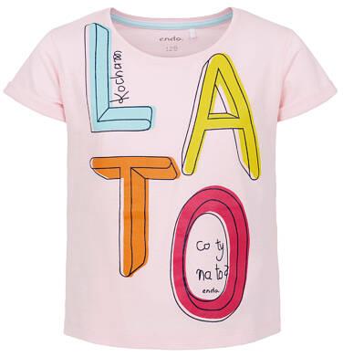 Endo - T-shirt z krótkim rękawem dla dziewczynki 9-13 lat D91G502_1