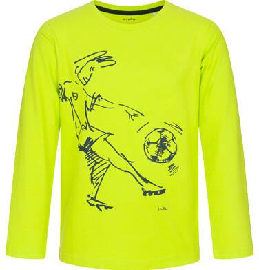Endo - T-shirt z długim rękawem dla chłopca, z piłkarzem, jaskrawozielony, 9-13 lat C92G522_2