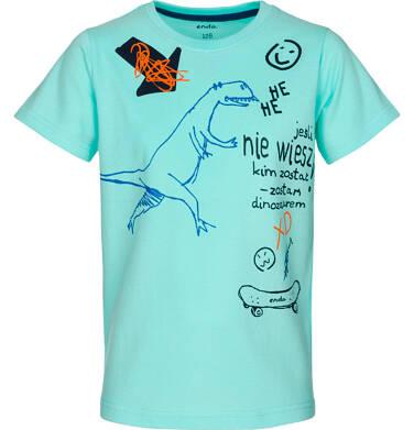 T-shirt z krótkim rękawem dla chłopca 9-13 lat C91G532_2