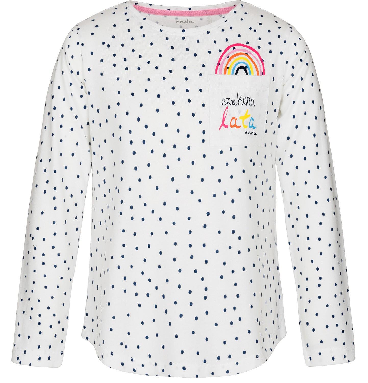 Endo - Bluzka z długim rękawem dla dziewczynki 3-8 lat D91G003_1