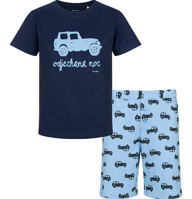 Endo - Piżama z krótkim rękawem dla chłopca, z autem, odjechana noc, 2-8 lat C03V005_1