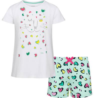 Endo - Piżama z krótkim rękawem dla dziewczynki, deseń w kolorowe serca, 2-8 lat D03V001_1 10