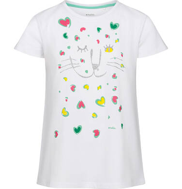 Endo - Piżama z krótkim rękawem dla dziewczynki, deseń w kolorowe serca, 2-8 lat D03V001_1 1
