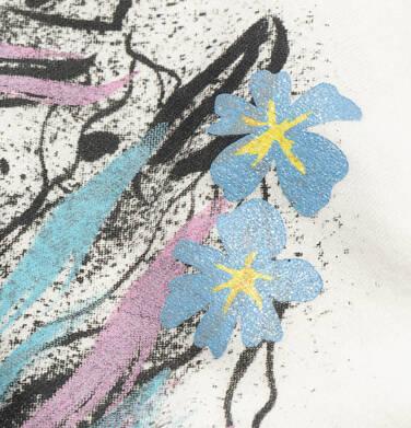 Endo - Bluzka z krótkim rękawem dla dziewczynki, ze ściągaczem, z koniem, biała, 9-13 lat D05G005_2,2