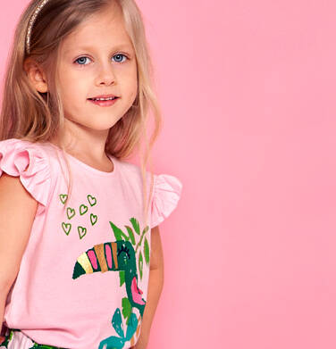 Endo - Bluzka z krótkim rękawem dla dziewczynki 3-8 lat D91G104_2