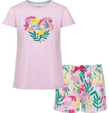 Endo - Piżama z krótkim rękawem dla dziewczynki, z kwiatowym motywem, 2-8 lat D03V002_1 9