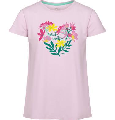 Endo - Piżama z krótkim rękawem dla dziewczynki, z kwiatowym motywem, 2-8 lat D03V002_1 8