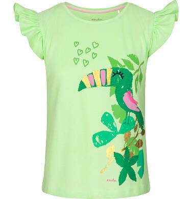 Endo - Bluzka z krótkim rękawem dla dziewczynki 9-13 lat D91G604_1