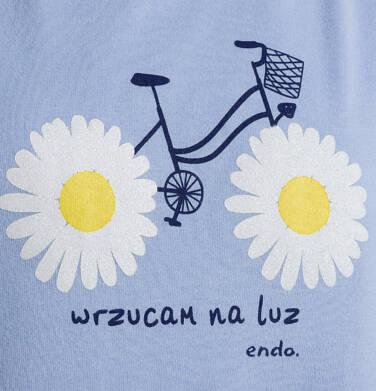 Endo - T-shirt z krótkim rękawem dla dziewczynki, z rowerem, niebieski, 9-13 lat D05G010_1 9
