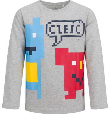 T-shirt z długim rękawem dla chłopca, szary, 2-8 lat C04G051_1