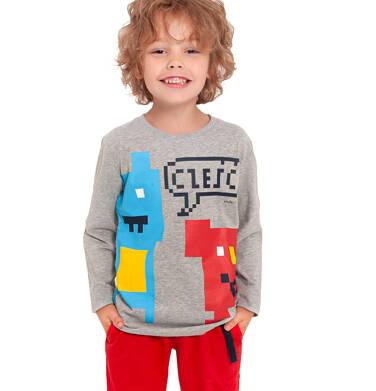 Endo - T-shirt z długim rękawem dla chłopca, szary, 2-8 lat C04G051_1 28