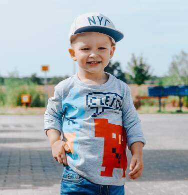 Endo - T-shirt z długim rękawem dla chłopca, szary, 2-8 lat C04G051_1 17