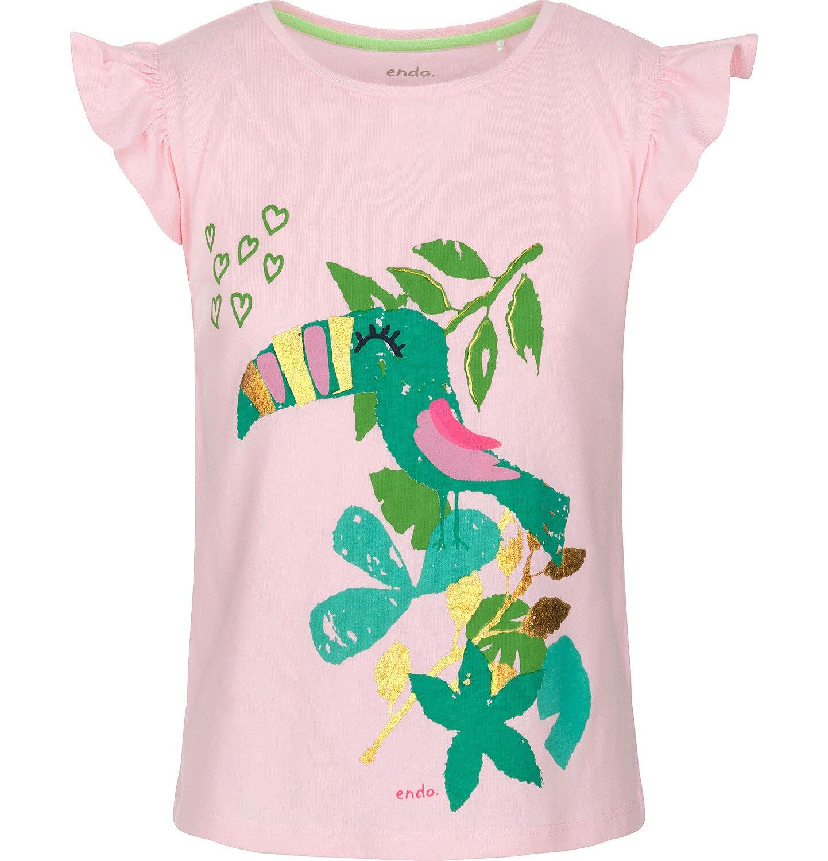 Endo - Bluzka z krótkim rękawem dla dziewczynki 9-13 lat D91G604_2