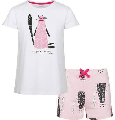 Endo - Piżama z krótkim rękawem dla dziewczynki, deseń w koty, 2-8 lat D03V004_1 8