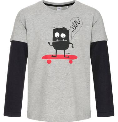 Endo - T-shirt z długim rękawem dla chłopca 9-13 lat C92G605_1