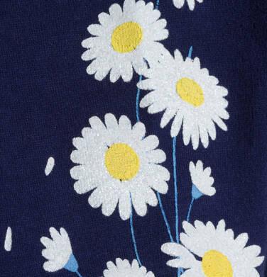 Endo - T-shirt z krótkim rękawem dla dziewczynki, z kieszonką, granatowy, 2-8 lat D05G035_1 19