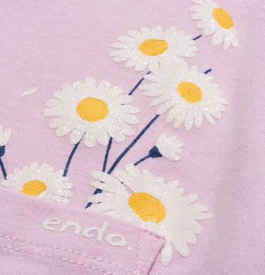 Endo - T-shirt z krótkim rękawem dla dziewczynki, z kieszonką, różowy, 2-8 lat D05G035_2,2