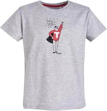 """Endo - T-shirt """"Mój Tata"""" dla chłopca 9- 13 lat C81G659_1"""