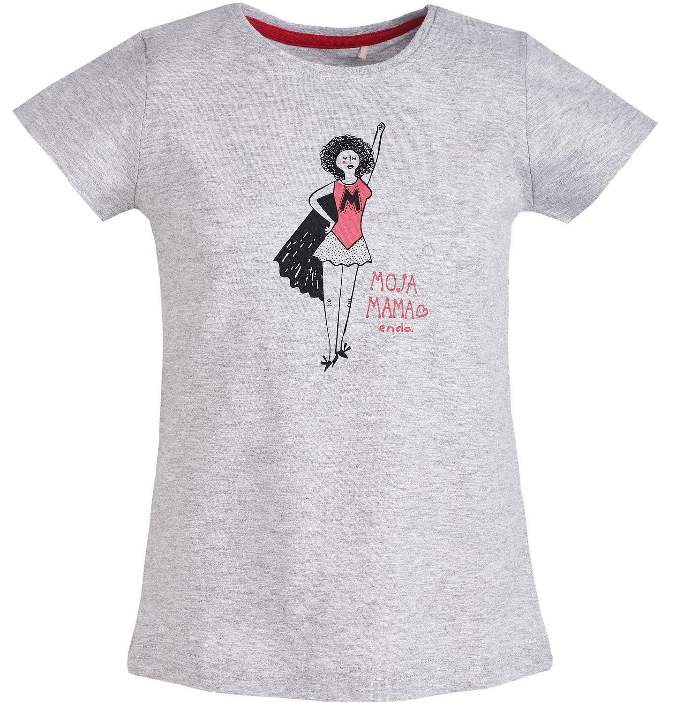 """Endo - T-shirt """"Moja Mama"""" dla dziewczynki 3-8 lat D81G179_1"""