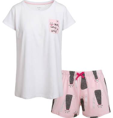 Endo - Piżama damska z krótkim rękawem, z deseniem w koty Y03V004_1