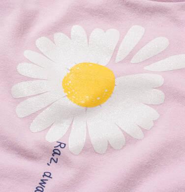 Endo - T-shirt z krótkim rękawem dla dziewczynki, ze stokrotką, różowy, 2-8 lat D05G042_2 16