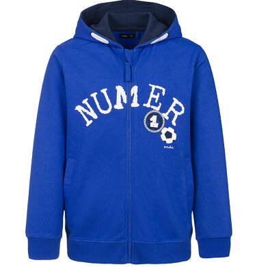 Rozpinana bluza z kapturem dla chłopca, numer jeden, ciemnoniebieska, 2-8 lat C03C002_1