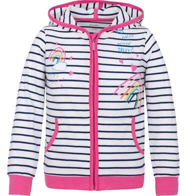 Bluza rozpinana z kapturem dla dziewczynki 9-13 lat D91C506_1