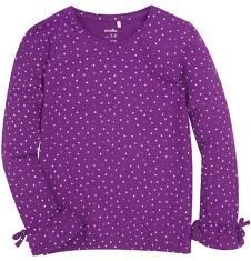 Endo - Bufiasta bluzka z brokatem dla dziewczynki 3-8 lat D72G038_1