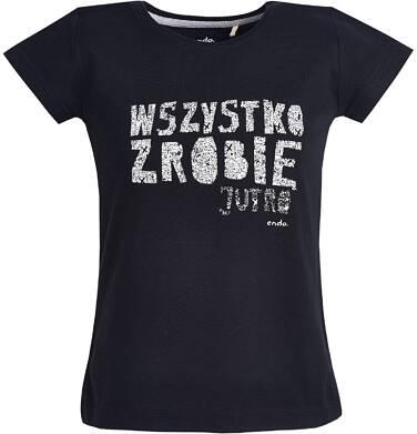 """Endo - T-shirt """"Wszystko zrobię jutro""""  dla dziewczynki 9-13 lat D81G680_1"""