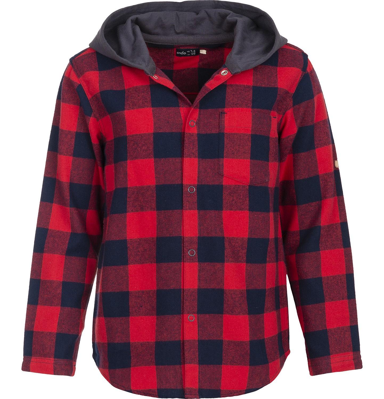 Endo - Koszula flanelowa z kapturem dla chłopca 9-13 lat C82F508_1